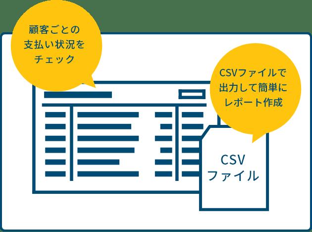 顧客ごとの支払い状況をチェック CSVファイルで出力して簡単にレポート作成