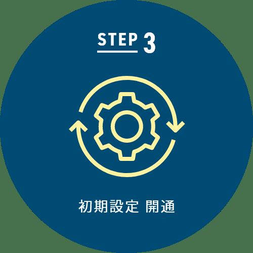 STEP 3 初期設定 開通
